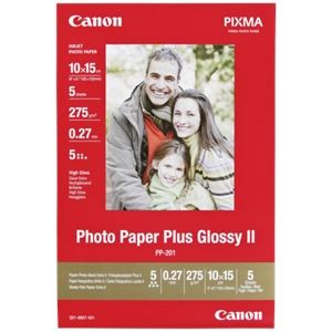 Canon PP-201 - Papier Photo Glacé Extra II 10x15 cm 5 feuilles 260 g