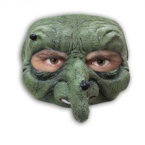 Demi-masque sorcière avec verrues