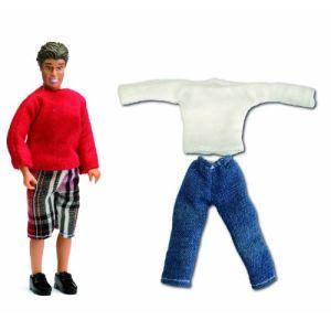 Lundby Kit Père + vêtements Smaland pour maison de poupée