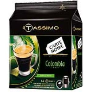 Tassimo 16 dosettes T-Discs Carte Noire Colombia