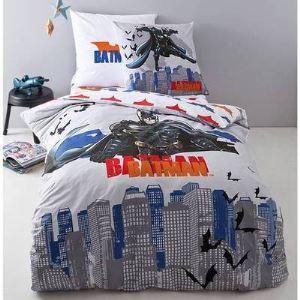 Cti Batman Punch - Housse de couette avec taie en coton (140 x 200 cm)