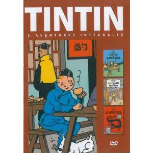 Coffret Tintin - Volume 1 : Les Cigares de Pharaons + Le Lotus Bleu + Tintin en Amérique