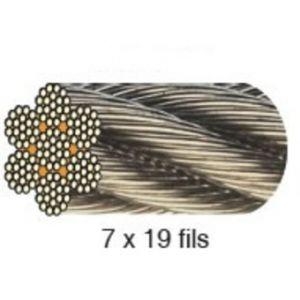 Cable acier galvanisé 8 mm