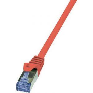 Logilink CQ3044S - Câble réseau RJ45 Cat.6A S/FTP 1,50 m rouge