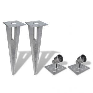 VidaXL 140594 - Support pour jambe de force à enfoncer (2 kits)
