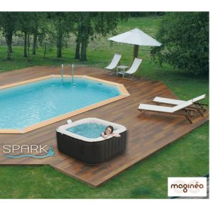 Water'clip BULY - Spa Water'Health gonflable 3/4 personnes 700 litres