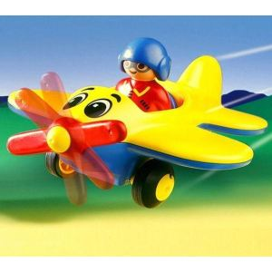 Playmobil 6717 - 1.2.3 : Pilote d'avion