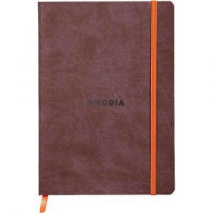 Rhodia 117403C Rhodiarama chocolat - Carnet souple format 14,8 x 21 cm, 160 pages