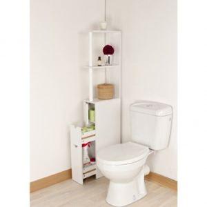 Meuble de rangement toilettes comparer 133 offres - Rangement porte salle de bain ...