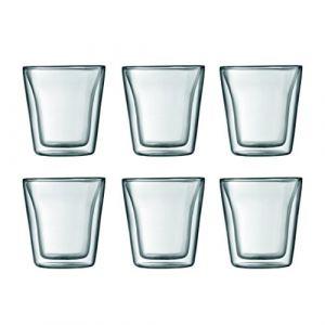 Bodum Canteen - 6 verres à double paroi 0,1 L