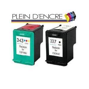 Paxton REFILLHP337 - Cartouche d'encre I Refill noire compatible HP n°337 + dosette