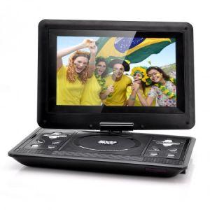 """High-Tech Place Lecteur DVD portable 10,1"""" LCD pivotable (Gaming, copie)"""