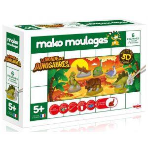 Mako moulages 6 moulages en plâtre : Dinosaures