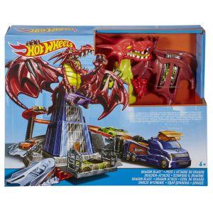 Mattel Hot Wheels Circuit de voitures Piste l'attaque du dragon