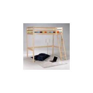 Lit mezzanine Altitude avec sommier à lattes en bois (90 x 190 cm)