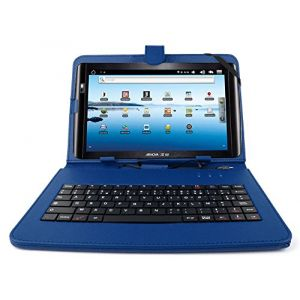 """Duragadget Etui aspect cuir avec clavier intégré AZERTY (français) + port de maintien pour Archos 101 Oxygen tablette 10,1"""""""
