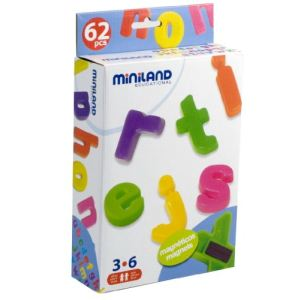 Miniland Baby Lettres minuscules magnétiques (62 pièces)