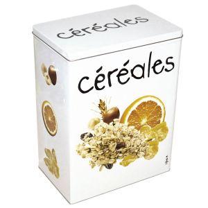 Incidence Boîte Gourmet Céréales en métal