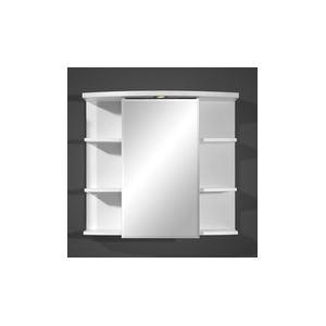 Armoire de salle de bain Long Electra avec miroir, éclairage et 6 étagères