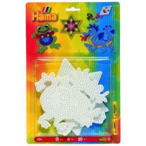 Hama Plaques pour perles à repasser : Grenouille / Étoile / Dragon