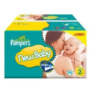 Pampers New Baby taille 2 (3-6 kg) - Jumbo x 88 couches
