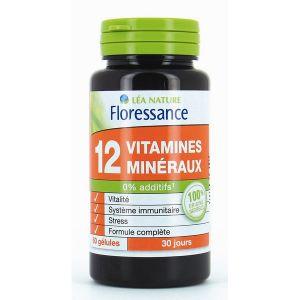 Floressance 12 vitamines et minéraux - 60 gélules