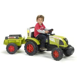 Falk Tracteur à pédales avec remorque Case
