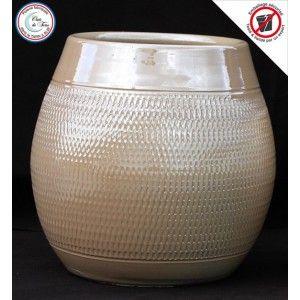 Clair de Terre Inca - Poterie en terre cuite émaillée forme jarre Ø16,5 x 22 cm