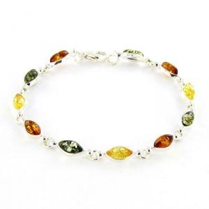 Rêve de diamants BRBA01014  - Bracelet en ambre véritable et argent 925/1000