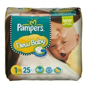 Pampers new baby taille 1 newborn 2 5 kg 25 couches - Prix couches pampers new baby taille 1 ...