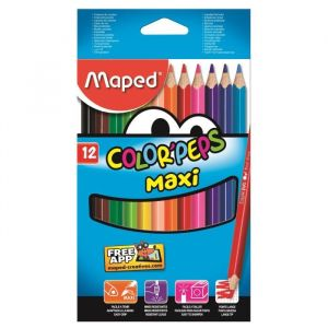 Maped 12 Crayons de couleur Color'Peps assortis