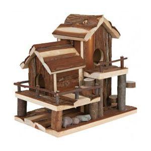 Trixie Maison Birte en bois naturel pour rongeur (25 x 24 x 16 cm)