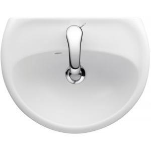 Jacob Delafon E4338-00 - Lave-mains MIDEO 45x35 cm autoportant. percé 1 trou blanc