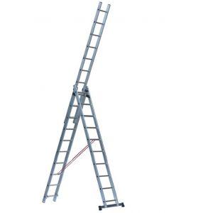 Escalux V16021 - Echelle transformable 3 plans 3.76 m