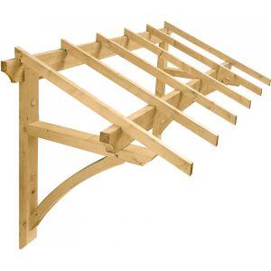 Jardipolys MAR2012 - Auvent 1 pan Medicis pour porte d'entrée - 2,5 m2