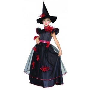 Déguisement sorcière élégante fille (taille au choix)