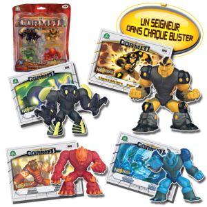 Giochi Preziosi 4 figurines + cartes Gormiti TV3