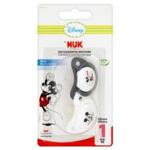 Nuk 2 sucettes physiologiques Mickey en silicone T1 ou T2 (modèle aléatoire)