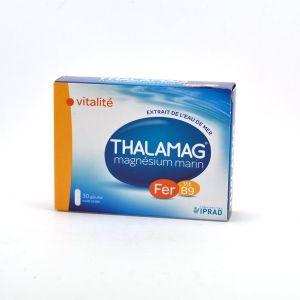 Thalamag Complément alimentaire de fer b9 magnésium marin + fer + vitamine B9 boite de 30 gélules