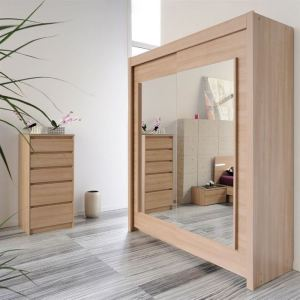 armoire 2 portes avec miroir grise comparer 28 offres. Black Bedroom Furniture Sets. Home Design Ideas