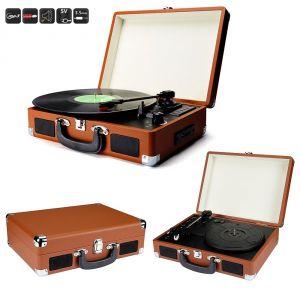 Toolland Platine vinyle rétro enregistreur numérique USB-SD-MP3
