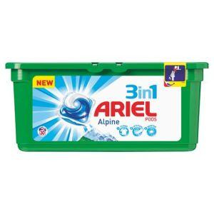 Ariel Lessive 3 en 1 Pods Alpine 30 doses