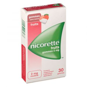 Johnson & Johnson Nicorette fruits s/s 2 mg - 30 gommes à mâcher
