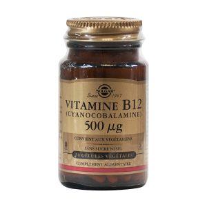 Solgar Vitamine b12 500 microgrammes - 50 gélules végétales