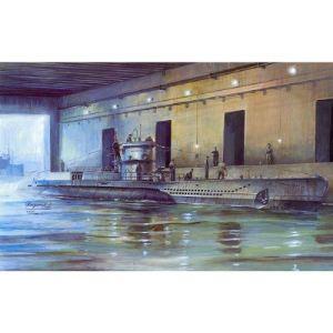 AFV Club AF73505 - Maquette sous-marin Allemand U-Boat Type VII D: Mouilleur de mines - Echelle 1:350