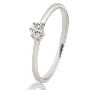 CaraShop 3663644018311 - Solitaire diamant en or blanc