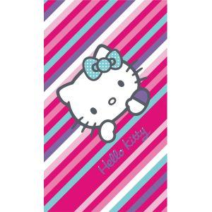 Cti Drap de bain/plage Hello Kitty rayures (75 x 150 cm)