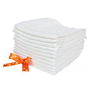 ByBUM Langes en tissu 80 x 80 cm (paquet de 10+1 gratuit)