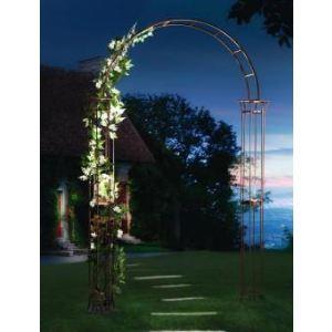 Intermas Gardening 190106 - Arche de jardin solaire Roman Solar Arch en métal 1,50 x 0,25 x 2,30 m