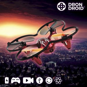 Dronedroid - Drone caméra télécommandé avec 4 hélices de rechange